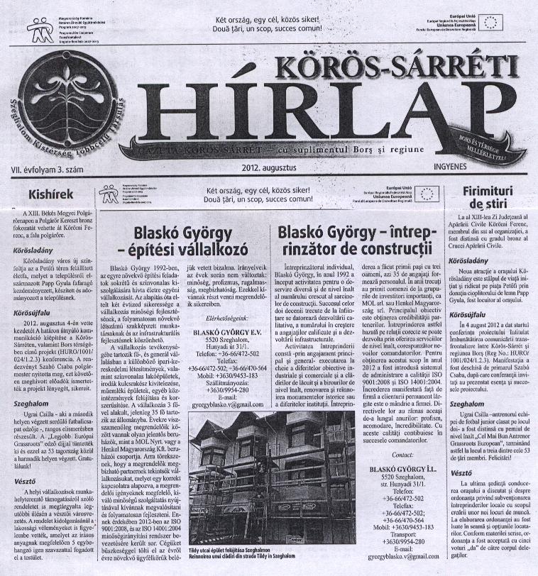 Körös-Sárréti hírlap